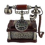 VBESTLIFE Klassische Holz Retro Vintage Telefon,Wählscheibe Antik Festnetz...