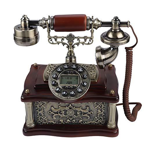 Holz Retro Vintage Telefon,Wählscheibe Antik Festnetz FSK/DTMF Telefon für Hause,Büro, Luxus Haus, Sterne Hotel, Kunstgalerie, Schmuckgeschäft usw. ()