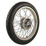 SIMSON-Komplettrad - HINTEN - 1,6x16 Zoll, Alufelge poliert, mit VeeRubber-Reifen VRM094 montiert