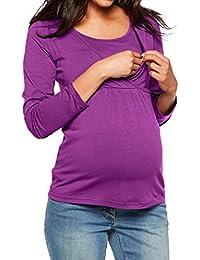 BBsmile premamá Camisetas, premamá Vestido Mujer Ropa de Maternidad Enfermería Tops Manga Larga Ropa para