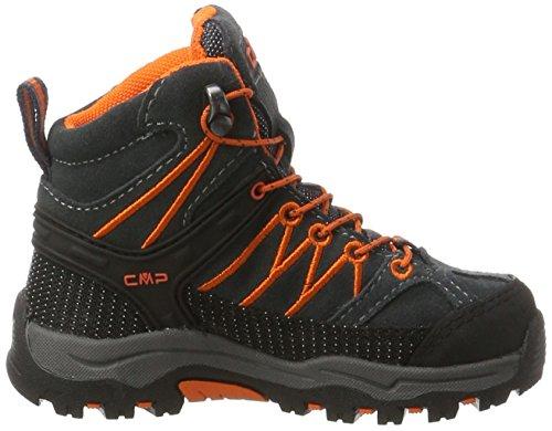 CMP Unisex-Kinder Rigel Mid Wp Trekking-& Wanderstiefel Schwarz (Asphalt)