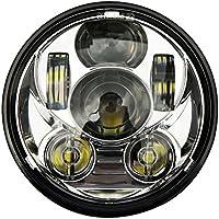 """'followhe Art 5–3/4""""5.75redondas daymaker LED Proyección de Faro para Harley Davidson Motocicleta cromo"""