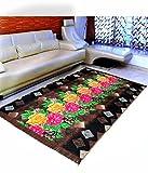#7: Home Elite Floral Floral Microfibre Anti-Allergic Carpet - 55