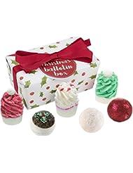 Bomb Cosmetics Christmas Ballotin Handmade Bath Melt Wrapped Gift Pack, 240g