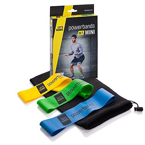 Powerbands Erwachsene Set Mini Gymnastikband, Bunt, One Size (Power-bands übung)
