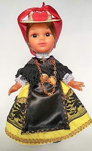 Folk Artesanía Muñeca artesana de 25 cm con Vestido...