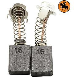 Kohlebürsten für HITACHI G 18SS Schleifer -- 7x13x17mm -- 2.8x5.1x6.7'' -- Mit automatische Abschaltung