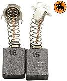 Kohlebürsten für HITACHI DU-PN2 Hammer -- 7x13x17mm -- 2.8x5.1x6.7 -- Mit automatische Abschaltung