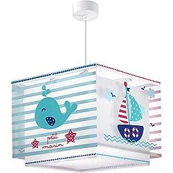 Dalber 43422Petit Marin, lámpara colgante pequeño marinero, plástico, azul, 30.5x 30.5x 25cm.