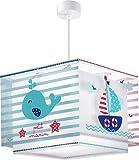 Dalber Petit Marin Hängelampe Kinder, Plastik, blau, 30.5 x 30.5 x 25 cm