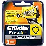 Gillette Fusion Proshield Lamette di Ricambio per Rasoio Uomo, Confezione da 3 Lamette