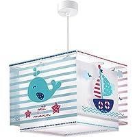Dalber 43422 Lampe suspendue Petit Marin en plastique – Bleu – 30,5x30,5x25cm