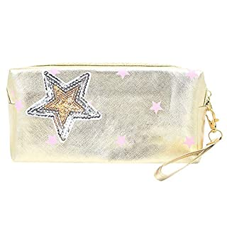 Cosmetic bag,IMJONO Valentine's Day summer St. Patrick's Day 2019 Best Gift for Girlfriend Discount clearance wash bag Women Star Travel Make Up Cosmetic Bag Fashion Multifunction Makeup Brush Bag H