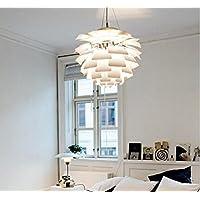 WYMBS Lampada a sospensione di arredamento creativo decorazione Lampadario in alluminio cono del pino , white