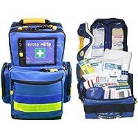 Erste Hilfe Notfallrucksack für Jugendgruppen u. Zeltlager - Nylon blau mit gelben Reflexstreifen von Team Impuls preisvergleich bei billige-tabletten.eu