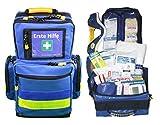 Erste Hilfe Notfallrucksack für Jugendgruppen u. Zeltlager - Nylon blau