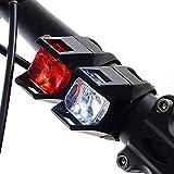 Househome,LED Fahrradbeleuchtung, USB Wiederaufladbare LED Set Rücklicht enthalten, 350 Lumen LED 2000mAh Li Akku Wasserdicht Fahrradlicht, mit Power Display Lichtsensor(rot, weiß)