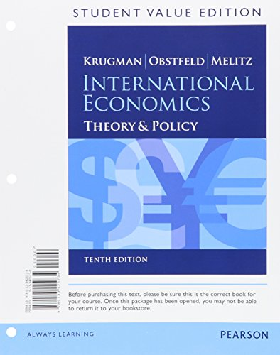 International Economics: Theory and Policy (The Pearson Series in Economics)
