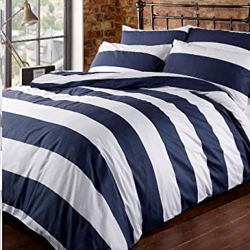 louisiana bedding horizontal navy u0026 white stripe blue 100 cotton 200 thread count u2013 pillowcase