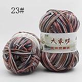 IDEA HIGH 1 balle x 50g fil à tricoter à la main coton bambou lisse doux multicolore naturel et doux - 22 couleurs - Accessoires pour vêtements de bricolage: 23