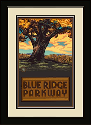 Northwest Art Mall Blue Ridge Parkway Big Oak Tree gerahmt Art Wand von Paul A. lanquist, 13 von 40,6 cm