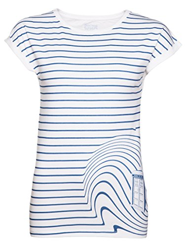 Womens Tardis Swirl medico che t shirt da BBC Worldwide White/Off White Medium