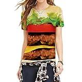 Die besten Freund Shirts Hamburger - Leckeres Essen Hamburger Unverwechselbares Design Frauen Sommer Kurzarm Bewertungen