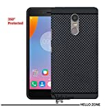 Hello Zone Exclusive Premium Quality Dotted Matte Finish Soft Rubberised Back Case Cover For lenovo k6 note - Black