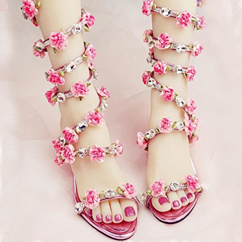 8398f2863a1e TWGDH Wedding Heels Sandals Wedge Shoes High Women Open Crystal Flower  Gladiator Sandal Dress Open Toe Bridal Boots High Heels B07CZ1W3HK Parent  012a4b8
