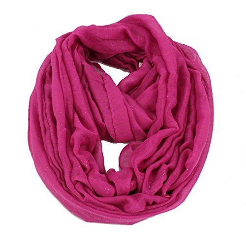 itter Glänzend Funkeln Muster Print Loop Schlauchschal Hot Pink (Hot Pink Schal)