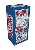 Slush Puppie Becher und Strohhalme, 20 Stück, aus Papier/Plastik, in Weiß/Blau, 25x 8,5x 9cm