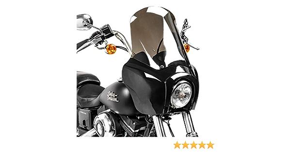 Verkleidung Mg5 Kompatibel Für Harley Dyna Low Rider Street Bob Schwarz Rauchgrau Auto