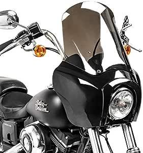 Lampenmaske Mg5 Kompatibel Für Harley Softail Street Bob 18 20 Lampen Verkleidung Rauchgrau Auto