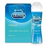 Preservativos Durex Comfort 24 Condones + Lubricante Durex Play Original