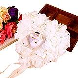 Zerone Hochzeit Ring Box, Romantic Rose Herz Hochzeit Ring Kissen Gastgeschenken Rose Hochzeit Herz Ring Box Ring Halter