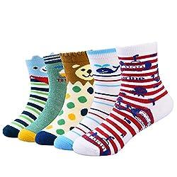 Information Vbiger Kleinkind Jungen Baumwolle Socken- Bieten Sie Ihre kleinen Jungen rücksichtsvoll Pflege!  Diese Socken sind aus hochwertigem Baumwoll-, Polyester- und Spandex gefertigt und speziell für Kinderjungen konzipiert und bieten ihnen ein ...