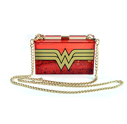 Wonder Woman Logo Bolso rojo/ oro