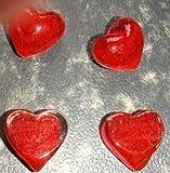 Glasherzen rot