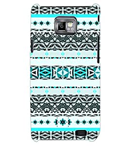 ColourCraft Tribal Pattern Design Back Case Cover for SAMSUNG GALAXY S2 I9100