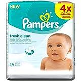 Pampers fraîche et propre lingettes pour bébé (64 par paquet x 4) -