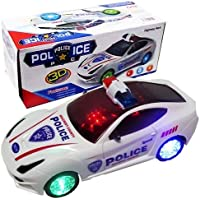 Funny Teddy Kids Bump and Go 3D Lights Police Car with Sound and Wheels with Light(Multicolour…