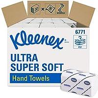 Essuie-Mains Enchevêtrés KLEENEX* ULTRA SUPER SOFT 6771 - 30 paquets de 96 formats moyens blancs 3 plis
