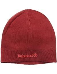 Timberland Men's Basic Beanie, Red Dhalia, One Size