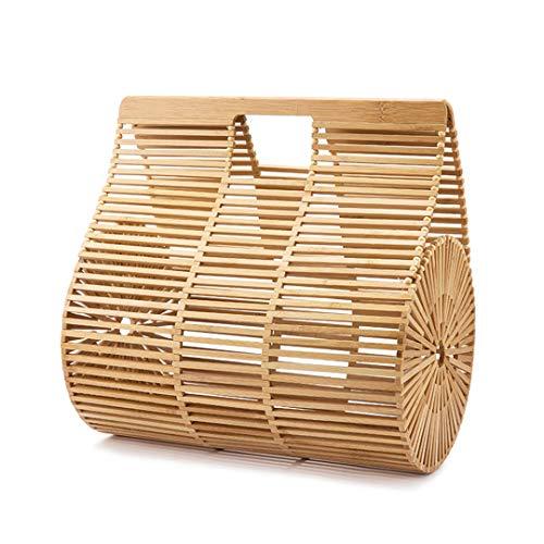 Frauen Handtaschen Bamboo Top Griff Tasche für Damen New Summer Holiday Beach Bag Big Size