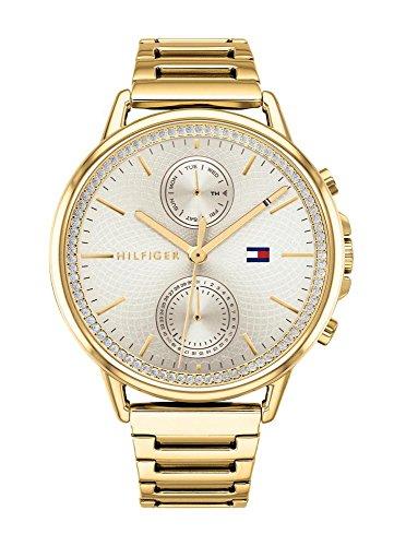 Tommy Hilfiger Reloj Multiesfera para Mujer de Cuarzo con Correa en Acero Inoxidable 1781916