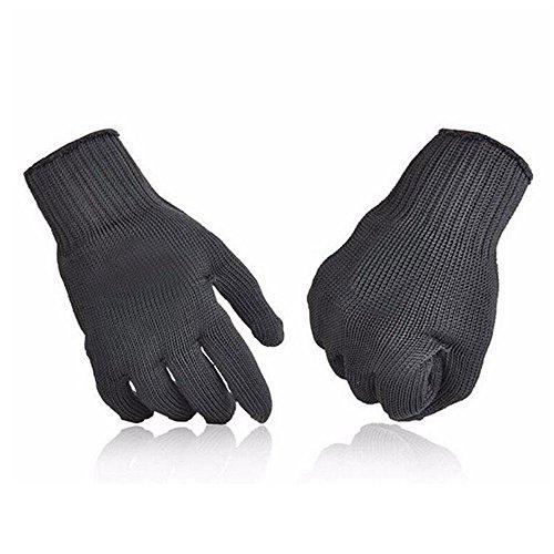 AOLVO Schnittfest Handschuhe, Lebensmittelqualität Level 5Schutz anti-cutting Handschuhe für Oyster Shucking Fisch Filet Verarbeitung Mandoline zum Schneiden Fleisch und Holz–1Paar für alle Größe Händen (12x12 Oyster)