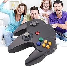 YKS Mando Nintendo 64 Joystick N64 Consola de Juegos Controlador con Cable Largo, Color Negro
