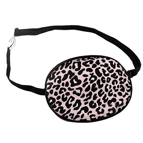 Erwachsener Seide Schlaf Augen Patch für Lazy Eye Amblyopia Behandlung, Rosa-Leopard-Druck - Lazy Leopard