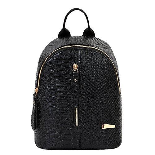 Rucksäcke Damen Btruely Mädchen Schultaschen Frau Eegant Reisetaschen Mode Damen Tasche (Schwarz)