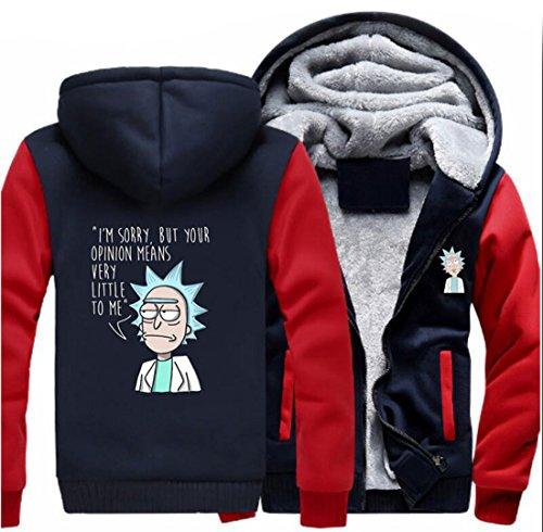 ullover Winter Plus Dick Mantel Herren Hooded Sweatshirt TV Show Cosplay Kostüm Zip Hoody Erwachsene (Tv Figur Kostüme Für Erwachsene)
